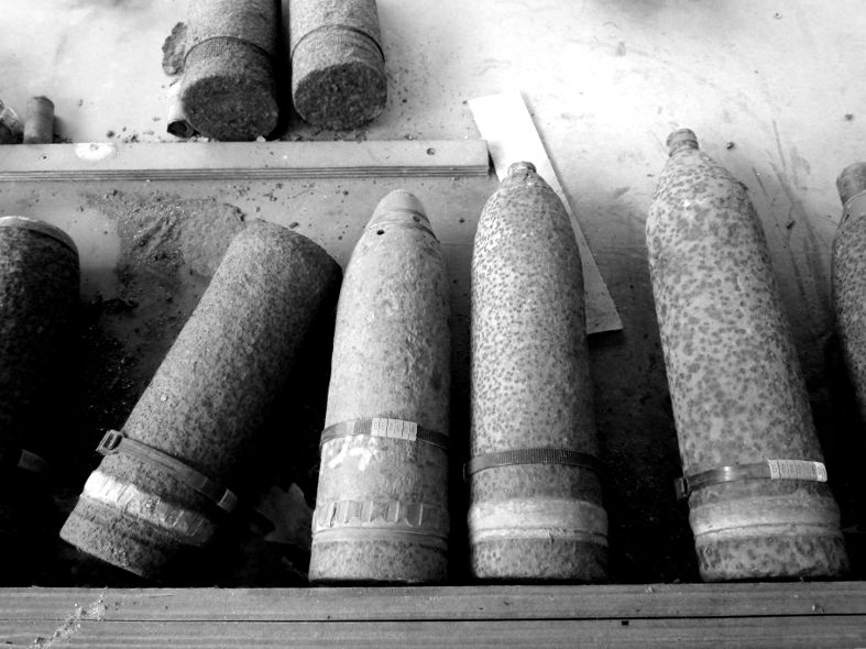 Remnants from Belgian Army Ammunition Disposal Unit CC 2.0