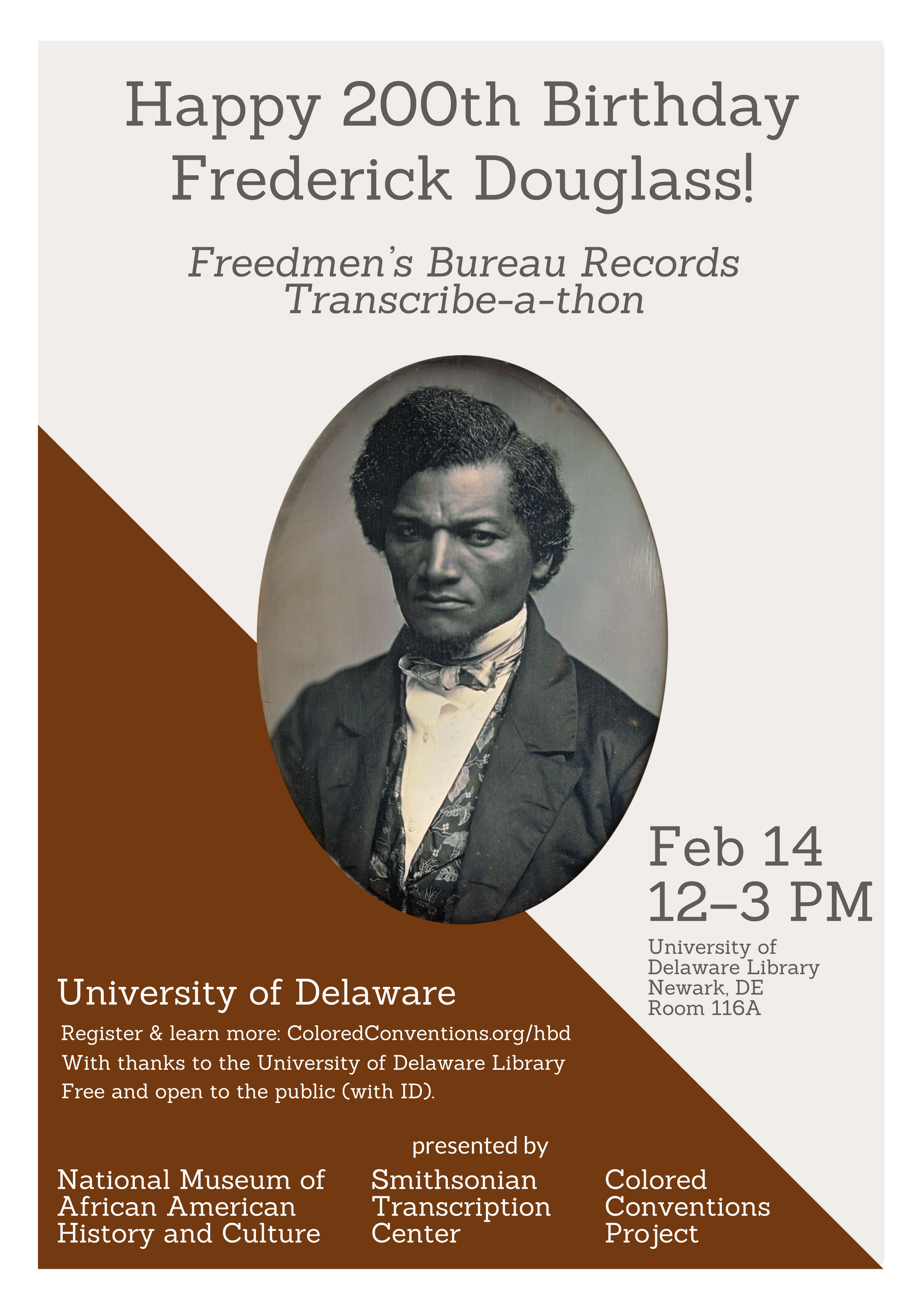 UD Hosting 200th Anniversary Douglass Day Transcribe-a-Thon