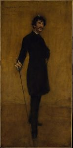 A portrait of Whistler by William Merritt Chase