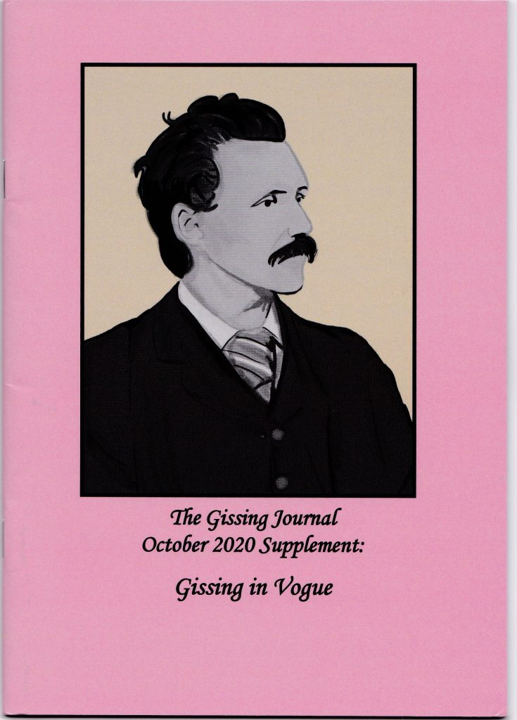 The cover of the issue of the Gissing Journal where Stetz published her article.